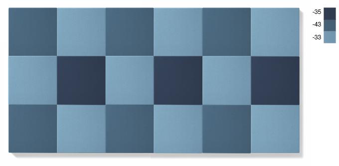 LARGE - blå kombination, 4,5 kvadratmeter