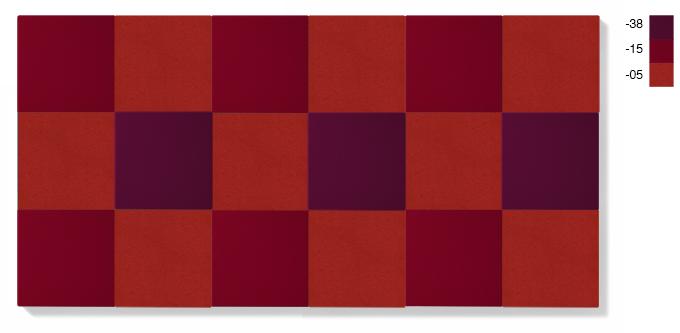 LARGE - röd kombination, 4,5 kvadratmeter