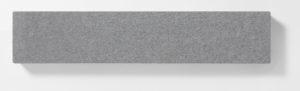 AKUSOUND, 20x100 cm, ulltyg, silvergrå
