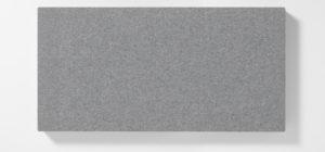 AKUSOUND, 50x100 cm, ulltyg, silvergrå